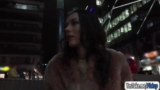 301185Sara Highlight flash her perky big tits