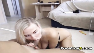 Captivating Girl-friend Providing a Huge Boner a Deepthroat Blowjob
