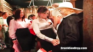 2 grimy screwed-up prostitutes are pleasing some schlong at a birthday party