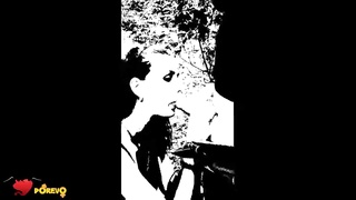 Cruel outdoor mouth fuck performed by a Russian woman in exactly the B&W video!