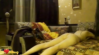 Aroused long-legged doll is liking flogging so much
