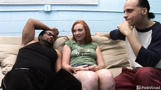 4 very large ebony schlongs in precisely the excited inter-racial gang-bang
