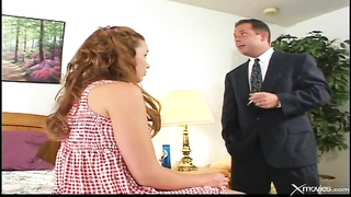 Mature boy is getting your hands on a enticing head by a incredibly slutty sitter