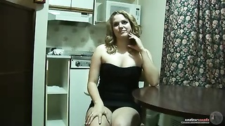 303475Huge Boobed novice is acting sexy in front digital camera in precisely the kitchen