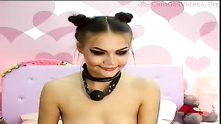 Spicy as hump dark-haired with a pant in her lips is liking her vibrator
