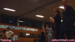 Ring gals are showing off their bodies in precisely the movie by Abby Winters