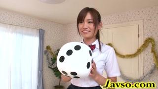 304596Tiny schoolgirl Mayu Nozomi loves threeway