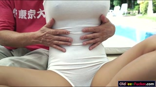 19 yo Pamela Sweet fucked by an old guy