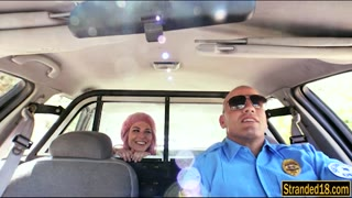 304980Pink hair teen pounded by police officer