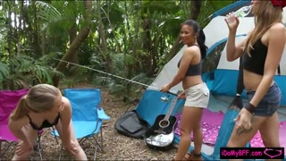 305237Besties camping turns to foursome sex
