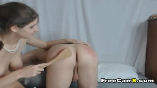 Hot babe Spanks Hunk with Pleasure