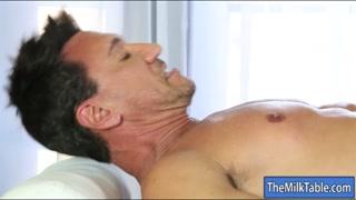 Sexy masseuse got cum all over her face
