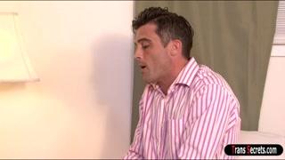 Busty shemale Aubrey Kate anal fucks guy