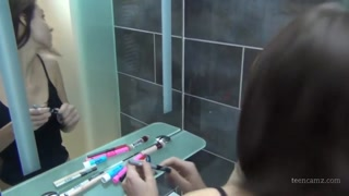 Stepsister fucked on toilet
