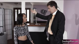 Kinky ebony Holly Hendrix anal pounded