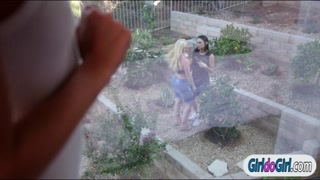 Kimmy joins lesbian couple Aj n Celeste