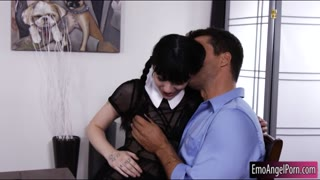 Cute emo girl anal pounded by thick cock