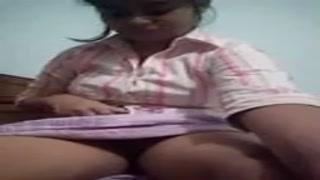 Cute teen Delhi escort's girl testing herself.delhisexyescortagency.com
