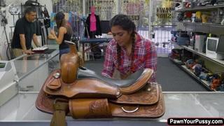 Latina Lexie Banderas rides huge cock