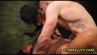 Threesome With Giant Dicks And Bi Streetwalker