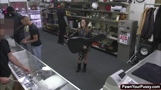 Latina rockstar fucks in the pawnshop