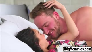 Crystal fucked by her bf and his stepmom