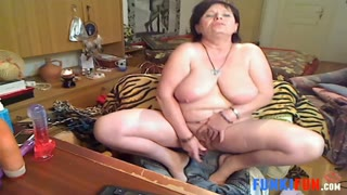 Nasty 52 year old granny masturbating