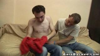 Stunning gay men do hardcore anal barebacking