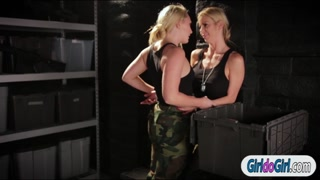 Airman Aj is fingered by collegue Alexis