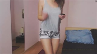 Cute Romanian Teen Strips And Masturbates