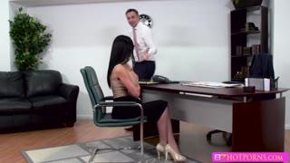 Brunette boobylicious babe Jasmine gets banged hard