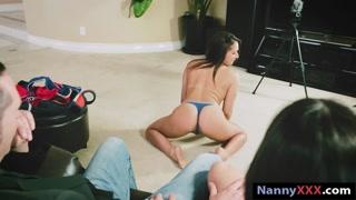 Kinky nanny fucking with pervert couple