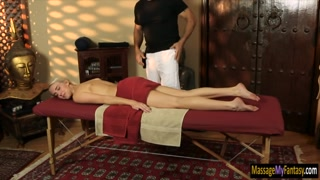Cadence Lux banged and jizzed by masseur
