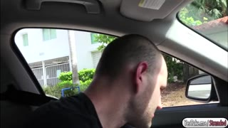 Kylie fucked by a stranger in his car