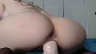 Dripping wet pussy dildo riding on wetcams