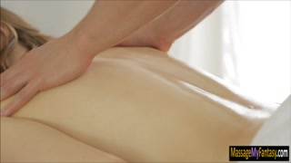 Hot babe gets drilled by nasty masseur