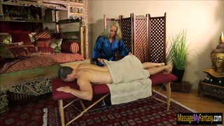 Mature masseuse pounded by her client