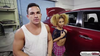 Kendall Woods fucked by car mechanic