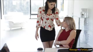 Nikki Knightly and Kat Dior licking twat