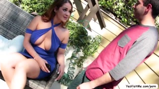 Busty hottie MILF gets banged by a huge dick