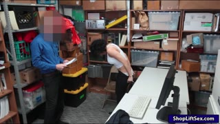 Curly hair amateur pounded by LP officer