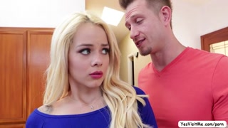 Blonde skinny teen fucked by a man who tricked her