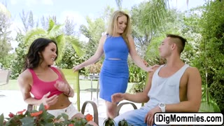 Megan Rain fucked by bf and her stepmom