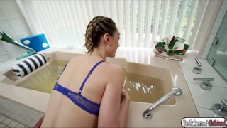 Lilly having sex wit bf in the bathroom