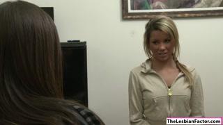 Lesbian Shyla licks Tanners sweet pussy