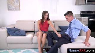 Tight nanny Eveline Stone pussy rammed