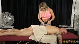 Busty masseuse Cali Carter threesome sex
