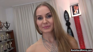 Perky tits babe Sabrina N anal threesome