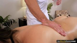 Sexy latina Kimber Woods pussy massage