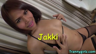 Solo masturbation with ladyboy Jakki